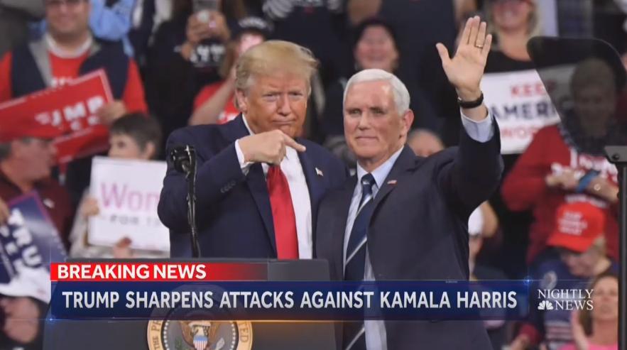 Biden Camp Thanks Media, NBC Claims Trump Could Dump Pence