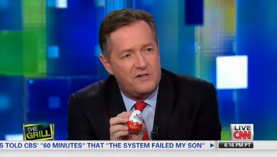 Piers Morgan Falls Flat In Gun Debate With Silly Kinder Egg Analogy