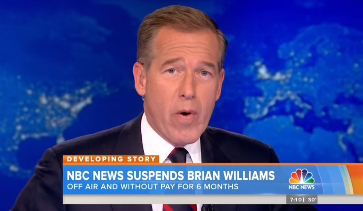 NBC Finally Does Full Report on Brian Williams Scandal