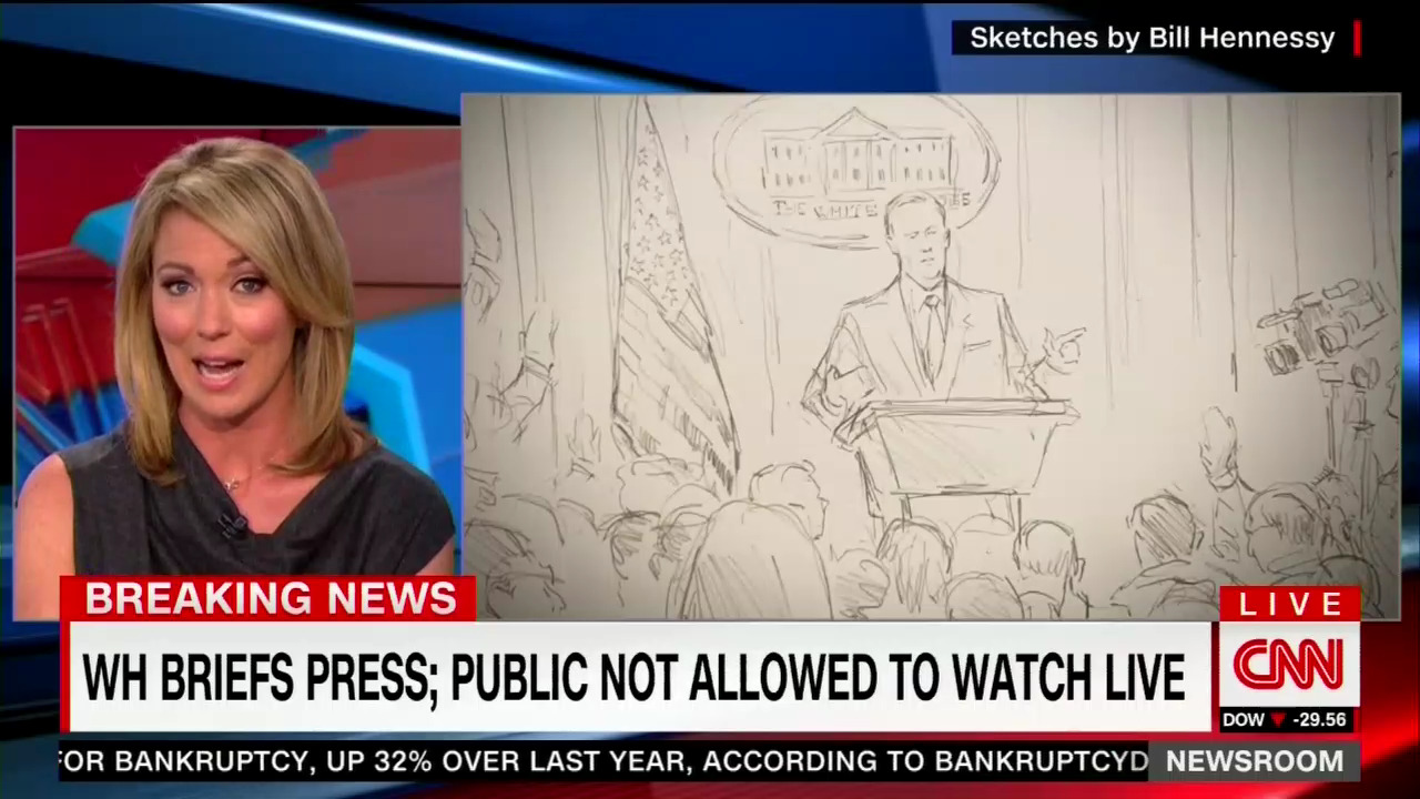Silly: CNN Debases Itself, Hires Sketch Artist for Off-Camera WH ...