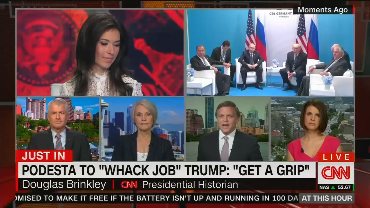 CNN presidential historian Douglas Brinkley has been unhinged in offering  deranged meltdowns before, but this one during Friday's At This Hour was  perhaps ...