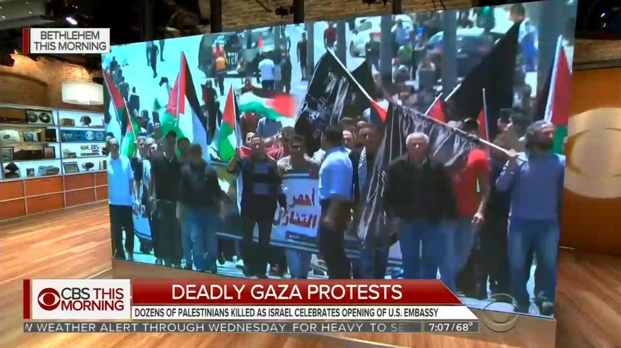 Palestinian Propagandists: Nets Blame U.S. and Israel for Gaza Violence
