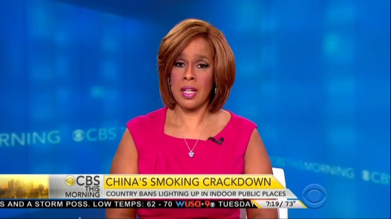 cbs s gayle king hails communist china s smoking ban