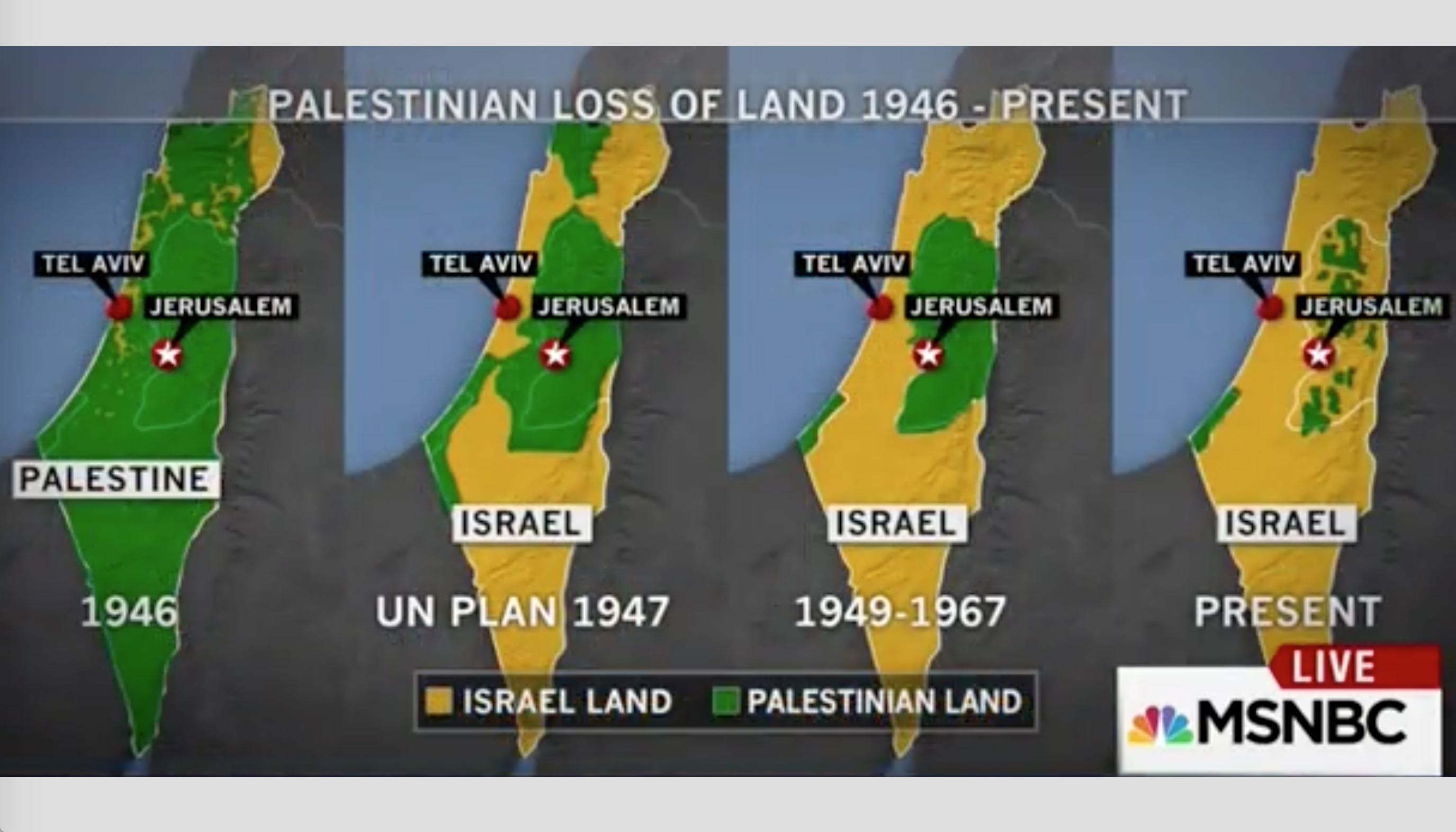 israel map 1948 with Msnbc Uses Long Discredited Map Showing 70 Years Palestine Land on Palestine History additionally 13 besides Mental Maps besides Where Is Palestine On The World Map in addition Antisemitism Just  mon Sense Regarding Israel Palestine.