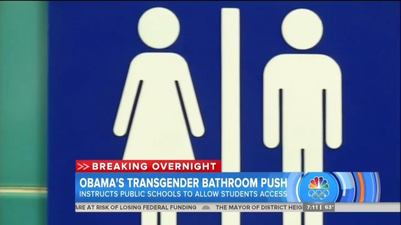 Networks Go Soft On Obama Threatening Schools Over Transgender - Transgender bathrooms