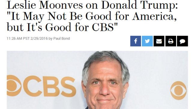 Image result for trump good for cbs