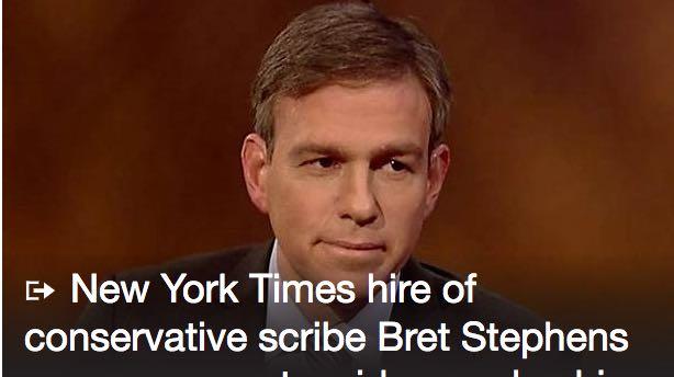 Journos Respond Harshly Profanely to Bret Stephens' First New York Times Column