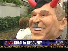 video capture from 2006 CNN report on anti-war protest