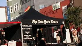 NY Times Subscription Booth