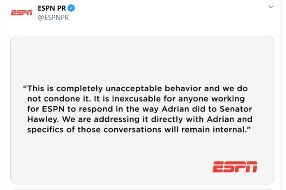 ESPN Woj apology tweet