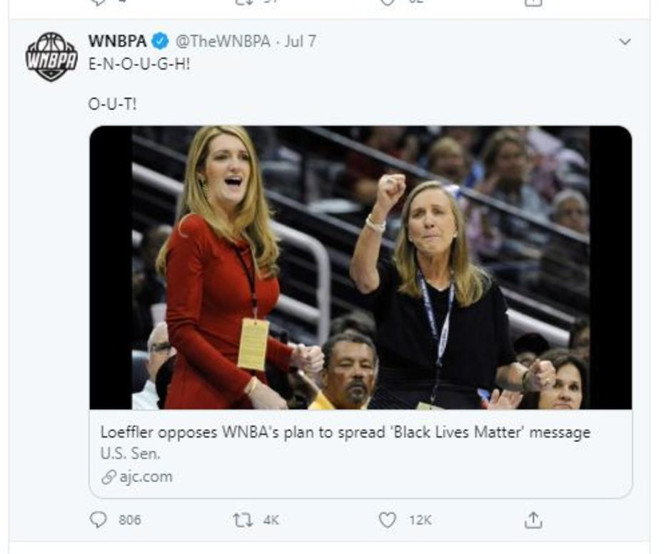 WNBAPA tweet