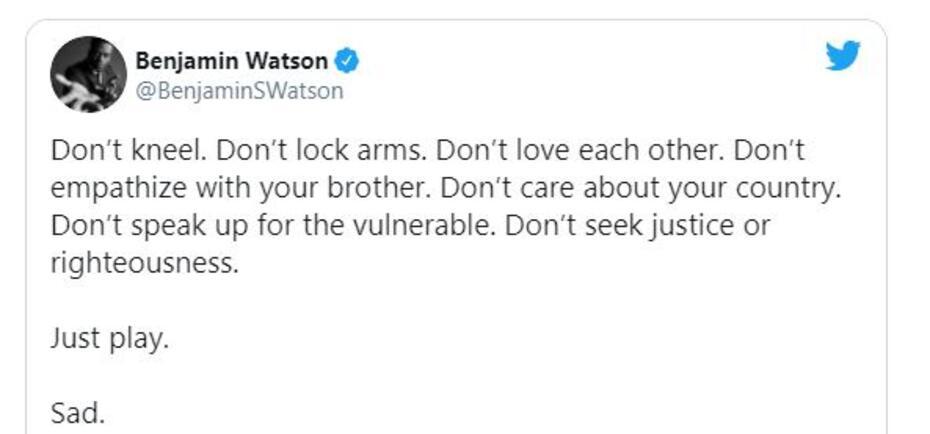 Benjamin Watson tweet