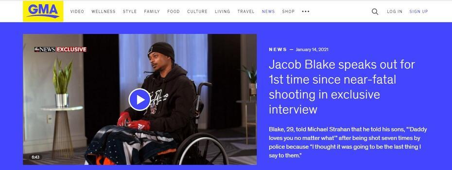 ABC Jacob Blake Interview Destroys Media Fantasy Blake Was 'Unarmed'