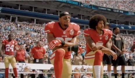Colin Kaepernick, left