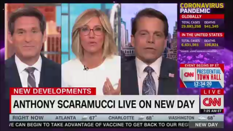 John Berman Alisyn Camerota, Anthony Scaramucci CNN New Day 9-17-20