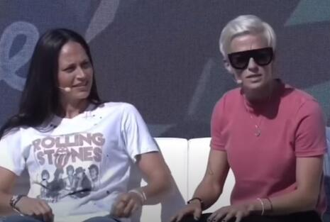Sue Bird, left, Megan Rapinoe