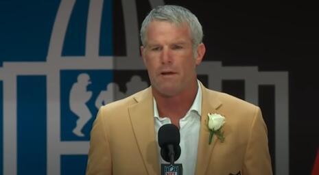 Brett Favre file photo of Hall of Fame speech