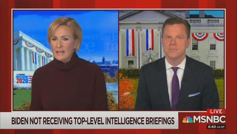 Mika Brzezinski Willie Geist MSNBC Morning Joe 11-12-20