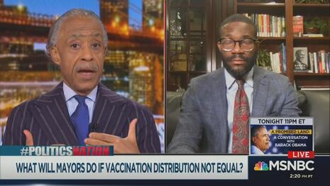 Al Sharpton Randall Woodfin MSNBC Politics Nation 11-21-20