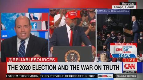CNN's Brian Stelter Echoes Biden: 'Truth Is On the Ballot!'