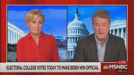 Mika Brzezinski Joe Scarborough MSNBC Morning Joe 12-14-20