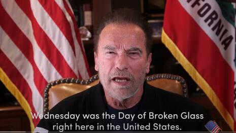 Arnold Schwarzenegger Compares Capitol Storming to Kristallnacht