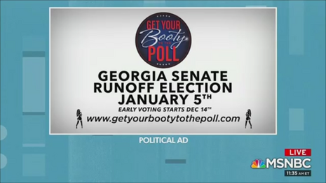 GetYourBootytothePoll.com ad MSNBC The Cross Connection 1-2-21
