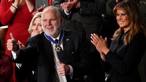 Rush Limbaugh Melania Trump Medal of Freedom