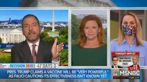 Chuck Todd Amazed by Biden's 'Luck' of Getting Favorable 'News Cycle'