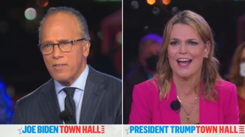 WATCH: NBC's Grotesque Town Hall Double Standard
