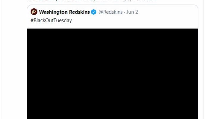 AOC Redskins tweet