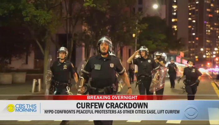 NYPD Curfew Crackdown - CBS