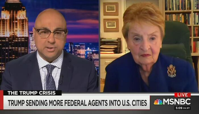 Ali Velshi and Madeleine Albright