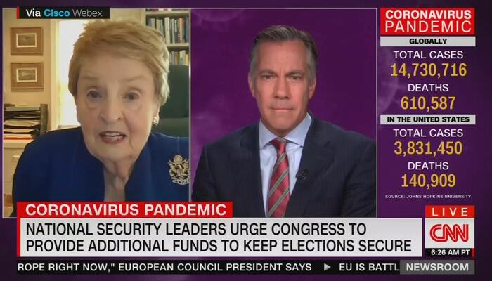 Jim Sciutto and Madeleine Albright
