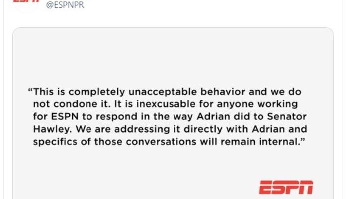 ESPN Woj apology tweet