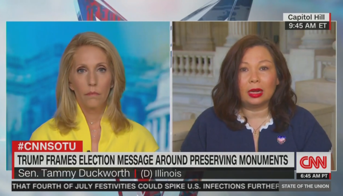 Dana Bash Tammy Duckworth CNN SOTU 7-5-20