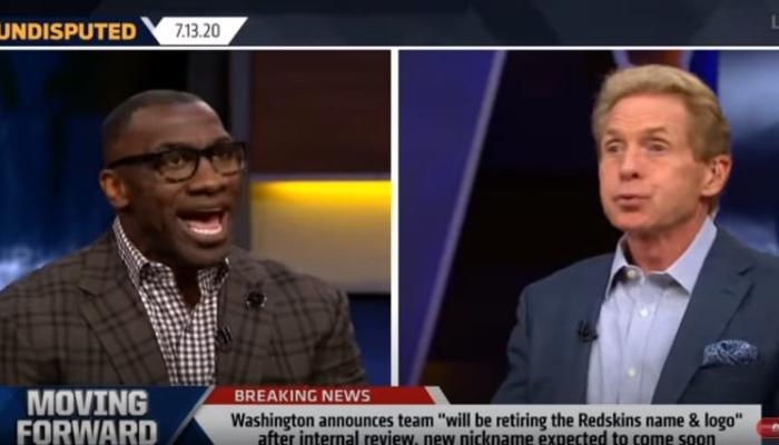 Shannon Sharpe, left, and Skip Bayless