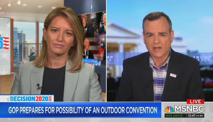 Katy Tur and Tim Murtaugh