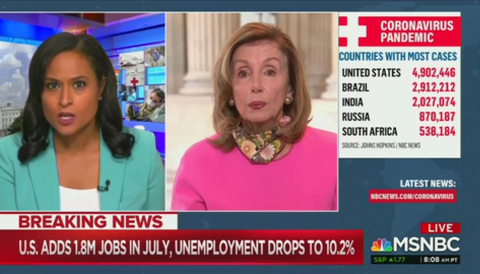 Kristen Welker and Nancy Pelosi