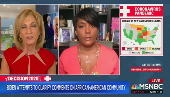 Andrea Mitchell and Keisha Lance Bottoms