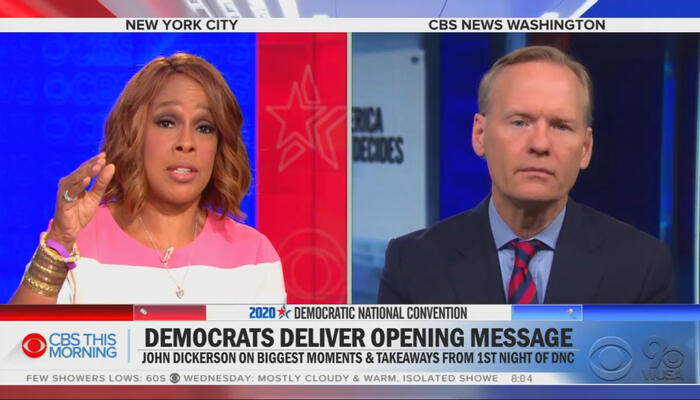 Gayle King and John Dickerson