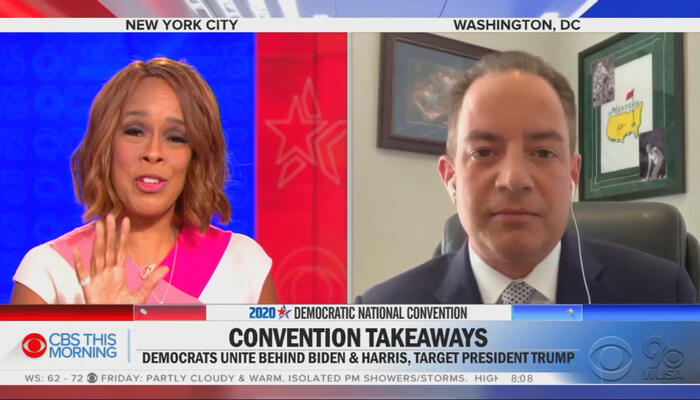 Gayle King and Reince Priebus