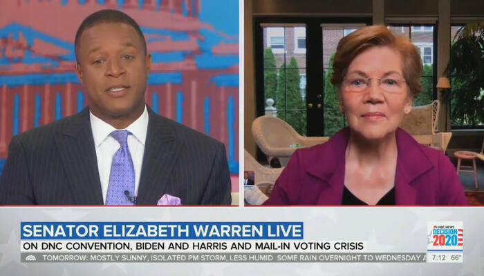 Craig Melvin and Elizabeth Warren