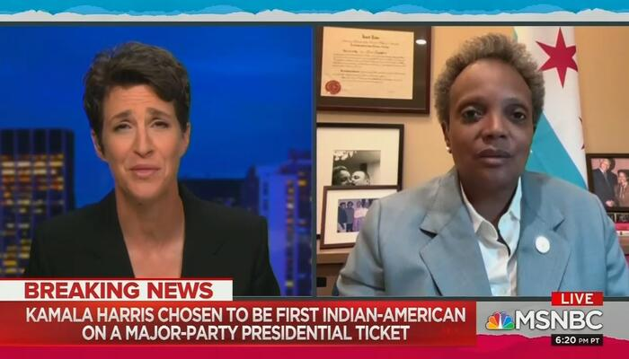 Rachel Maddow and Lori Lightfoot