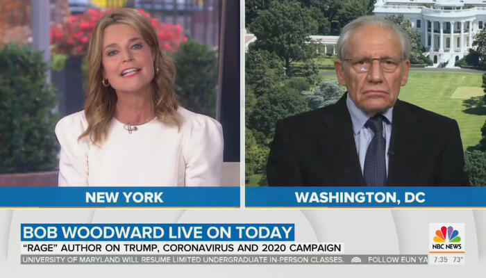 Savannah Guthrie and Bob Woodward