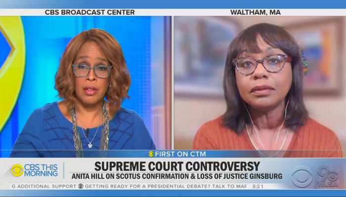 Gayle King and Anita Hill