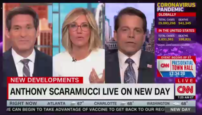John Berman Alisyn Camerota, Anthony Scaramucci CNN New Day 9-17-20