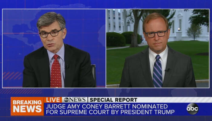George Stephanopoulos and Jon Karl