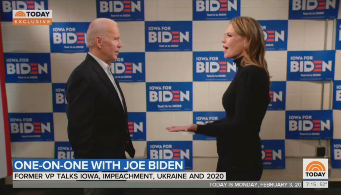 Joe Biden and Savannah Guthrie