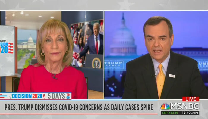 Andrea Mitchell and Tim Murtaugh